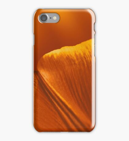 Red And Orange Tulip Flower Petals iPhone Case/Skin