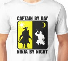 Captain by day, ninja by night Unisex T-Shirt