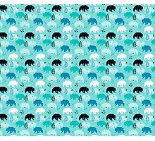 Woodland Bears Photographic Print
