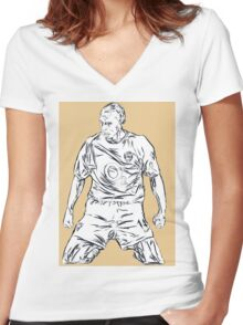 Thierry Henry - King of North London Women's Fitted V-Neck T-Shirt
