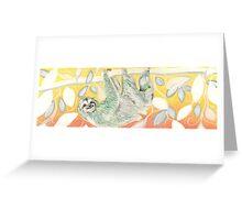Sloth Greeting Card
