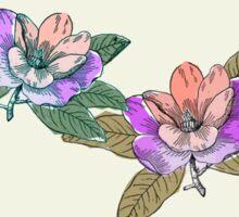 Block Colour Floral Pattern Sticker