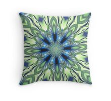 Patterned Blue Throw Pillow