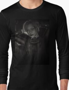 blonde black and white  Long Sleeve T-Shirt