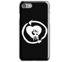 Rise Against Heart Fist Clean Look White iPhone Case/Skin