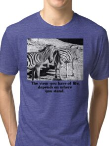 Zebra In A Bad Location Tri-blend T-Shirt
