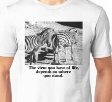 Zebra In A Bad Location Unisex T-Shirt