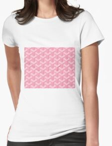 Goyard case pink Womens Fitted T-Shirt