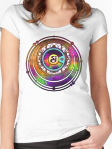 String Cheese Incident Colorado Love Sacred Funkadelic Women's Fitted Scoop T-Shirt