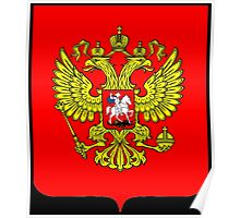 RUSSIA, RUSSIAN, SHIELD, Coat of Arms of the Russian Federation Poster