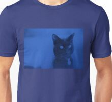 Spooky Cat - Blue Unisex T-Shirt