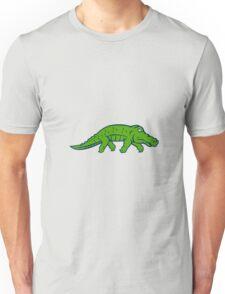 Anxious Alligator Tiptoing Retro Unisex T-Shirt