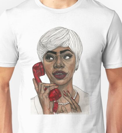 Girl with the Red Telephone Unisex T-Shirt