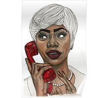 Girl with the Red Telephone Poster