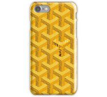 goyard case yellow iPhone Case/Skin