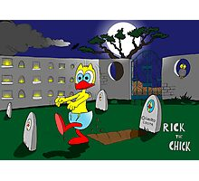 "Rick the chick ""ZOMBIE"" Photographic Print"