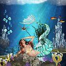 Fantasy Mermaid Ocean Scenery  by Moonlake