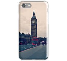 London - Big Ben and Red Bus iPhone Case/Skin