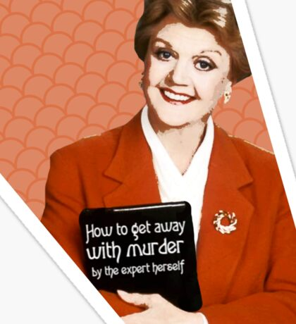 Murder, She Wrote Fan Art Sticker