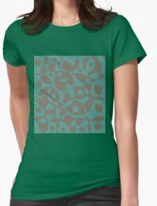 Blue and brown texture Womens Fitted T-Shirt