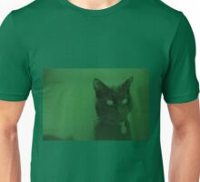 Spooky Cat - Green Unisex T-Shirt