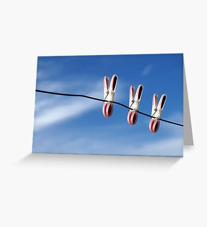 Three of us...in the sky! Greeting Card
