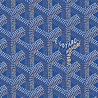 Goyard case blue perfect design by San Bild