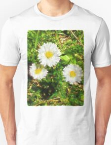 Three Daisies in the Sun Unisex T-Shirt