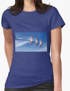 Three of us...in the sky! Womens Fitted T-Shirt