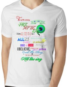 All the Way Jacksepticeye lyrics Mens V-Neck T-Shirt