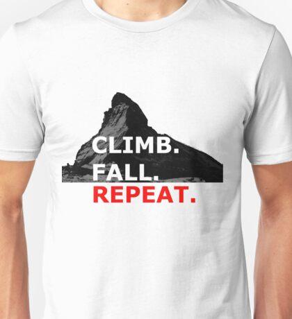 Climb. Fall. Repeat Unisex T-Shirt