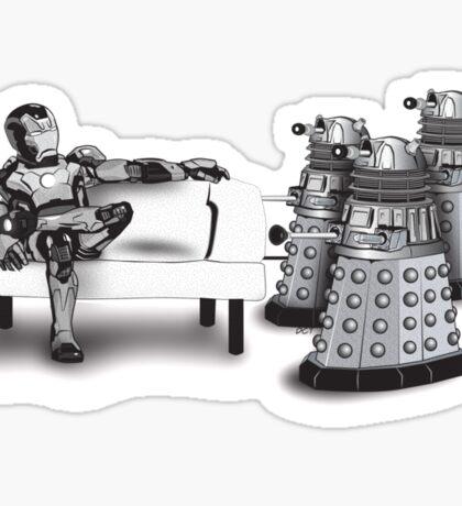 Tony Stark and Pepper Pots Sticker