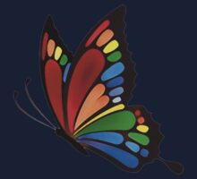 Colorful Rainbow Butterfly Kids Tee
