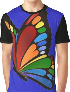 Colorful Rainbow Butterfly Graphic T-Shirt