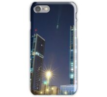twin buildings iPhone Case/Skin