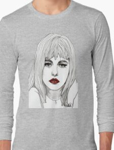 Patsy with Red Lips Long Sleeve T-Shirt