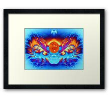 ESCAPE FROM THE SUN Framed Print