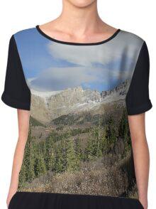 Rocky Mountains, Colorado Chiffon Top
