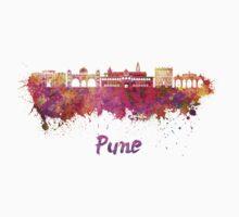 Pune skyline in watercolor Kids Tee