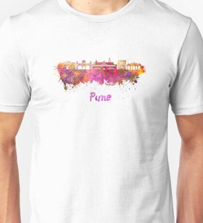 Pune skyline in watercolor Unisex T-Shirt