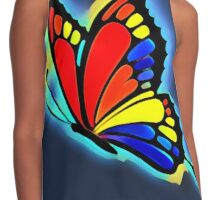 Bright and Bold Butterfly Art Contrast Tank