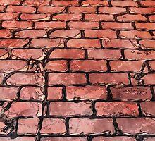 Vintage Brick Street by Phil Perkins