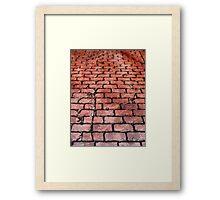 Vintage Brick Street Framed Print