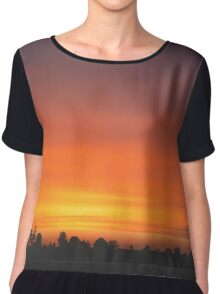 Late Sunset Chiffon Top