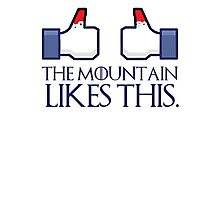 The mountain likes this (thumbs up) Photographic Print