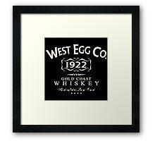 West Egg Whiskey Framed Print