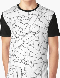 White Cascade Graphic T-Shirt