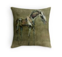 Wooden Horse Throw Pillow