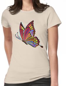 Colorful Abstract Butterfly Art Womens Fitted T-Shirt