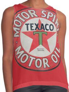 Vintage Texaco Motor Spirit Logo  Contrast Tank